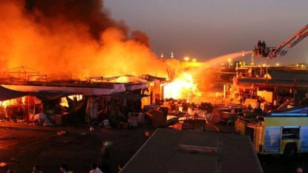 حريق مهول بسوق شعبي دون ضحايا في الأرواح بآسفي