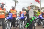 الدار البيضاء :منح رجال الأمن لمجموعة من دراجات نارية، وذلك من أجل المساهمة في الحد من الجريمة في الشارع العام.