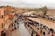 مراكش : ساكنة سيدي يوسف بن علي تراقب بحذر فيضانات واد اسيل