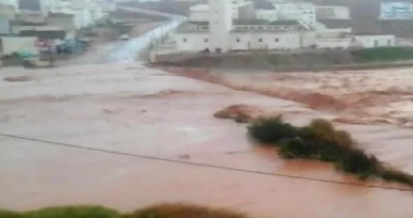 قنطرة واد سيدي محمد بن عبد الله ميرلفت قبل انهيارها بسبب الفيضانات