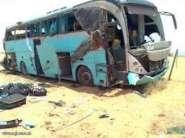 انقلاب حافلة للنقل العمومي بمدخل بلدية كلميم