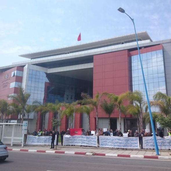 الدار البيضاء : التنسيقية الوطنية المستقلة لحاملي الشواهد – بداية الإعتصام
