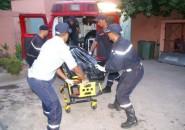 مراكش : المتسابق الفرنسي الذي لقي مصرعه بتنغير تم نقل جثته الى مستودع الأموات بمراكش.