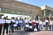 تعنيف مصورين صحافيين في وقفة احتجاجية في الدار البيضاء