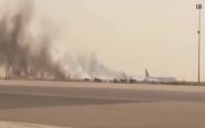 فيديو : إندلاع حريق بمطار محمد الخامس الدولي بسبب ارتفاع درجة الحرارة