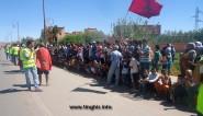 ساكنة دوار واكليم التابعة لجماعة واكليم يقفون احتجاجاً أمام عمالة تنغير