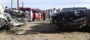 تنغير : حادثة سير خطيرة على الطريق الوطنية رقم 10 بالملتقى الطرقي بتاغزوت