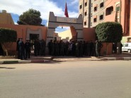 قوات الأمن تحاصر الطلبة الأساتذة بمركز التربية والتكوين بالرشيدية