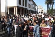 معطلو المغرب يلتئمون في جبهة موحدة ضد البطالة، ويجوبون في مسيرة حاشدة شوارع الرباط
