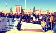 بالصور ….التنسيق النقابي بتنغير  وقفة حاشدة تزامنا مع اضراب 24 فبراير2016