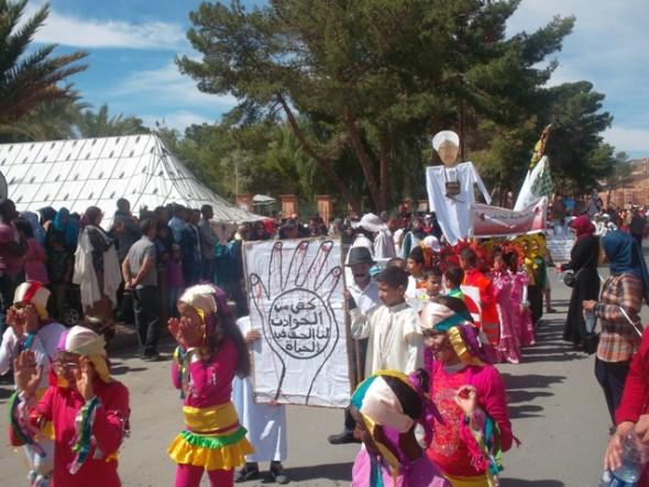 بالصور……الكرنفال الإقليمي الأول بمدينة تنغير كرنفال احتفالي تربوي وثقافي ناجح