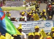 مسيرة مشهودة للتنسيق النقابي بتنغير تخليدا لفاتح ماي 2016