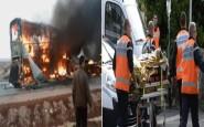 3 قتلى مهاجرين في حادثة سير بفرنسا واحتراق حافلة قادمة من إيطاليا إلى المغرب