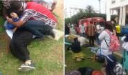 40 حالة إغماء في صفوف الأطر التربوية المضربة عن الطعام أمام البرلمان