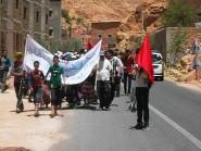 تنغير : ساكنة تامستوشت تنتفض طلبا للماء الصالح للشرب بمسيرة حاشدة نحو عمالة الإقليم