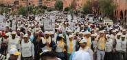 الاف من ساكنة ورزازات يساندون السعيد أمسكان ويرفعون رمز السنبلة في مسيرة شعبية حاشدة