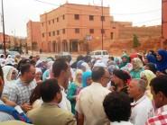 تنغير : احتجاج أمام الملحقة الإدارية الاولى بسبب مشكل الترامي على الاراضي السلالية