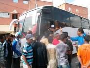 قلعة مكونة : أصحاب الطاكسيات يوقفون حافلة للمسافرين، وابتزاز مراسل الجريدة من قبل نائب رئيس مجلس أملوك