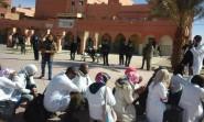بالفيديو .. إصابات في منع مسيرة الاساتذة المتدربين بالرشيدية