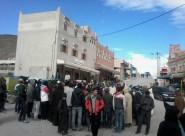 ساكنة منطقة املشيل والمتضامنين مع قضية حوامل املشيل ينظمون وقفة احتجاجية منددين بواقع قطاع الصحة بالمنطقة
