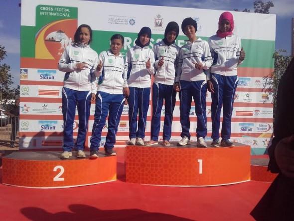 فريق فتيات جمعية ايت ايحيا لالعاب القوى تحافظ على الصدارة وطنيا في ملتقى مراكش.
