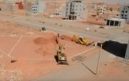 لحظة إنطلاق الأشغال في بناء مسجد الفاروق المجد 01 بمدينة تنغير.