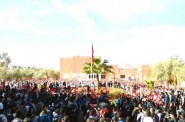 شاهد .. تحية العلم بالنشيد الوطني والاعلام الوطنية بمدرسة مغربية