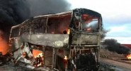 مصرع 20 طفلا في حادث اصطدام شاحنة و حافلة مدرسية وهذه هي التفاصيل
