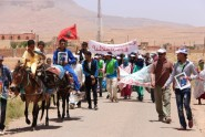 تنغير :مسيرة احتجاجية تندد بالإقصاء و التلاعب في عملية التحديد الاداري بجماعة ايت هاني