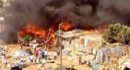 النيران تلتهم سوقا بسلا، ودخانه يصل العاصمة الرباط