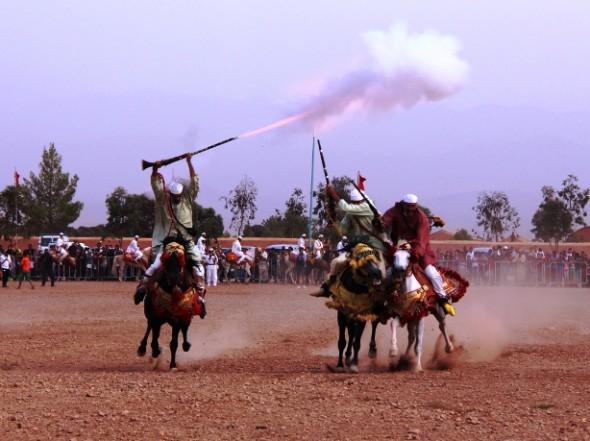 بومالن دادس : عروض الفروسية ضمن فعاليات مهرجان تملسا النسخة الثامنة