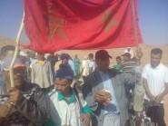 """ساكنة قبيلة تورتيت """"بأغبابو نكردوس"""" تنظم مسيرة إحتجاجية مشيا على الأقدام نحو عمالة تنغير + فيديو"""
