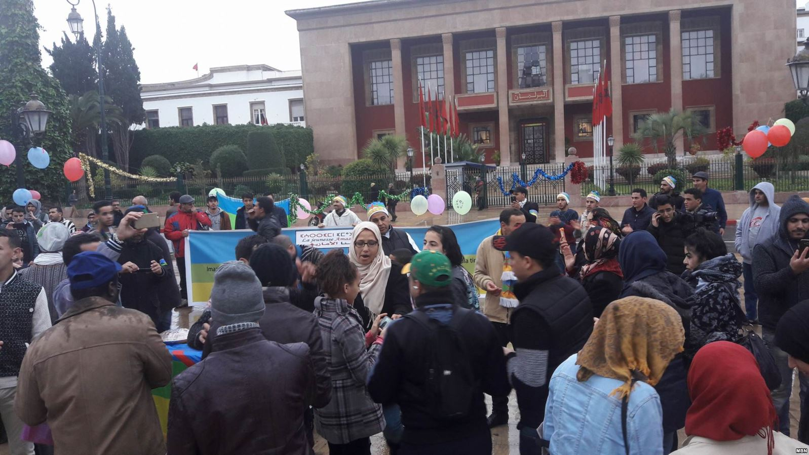 مغاربة يحيون رأس السنة الأمازيغية بالاحتجاج