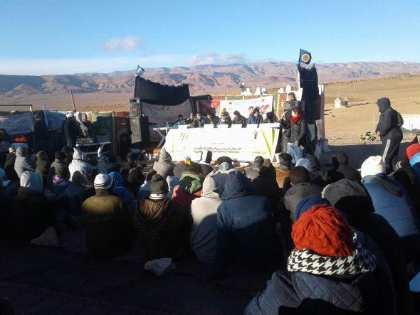 """تنغير :الإعتقال السياسي والحركات الإحتجاجية موضوع ندوة من فوق جبل """"البان"""" بإميضر + فيديو"""