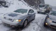 الثلوج تقطع عددا من الطرق بدرعة تافيلالت.. وتعزل قرى وأقاليم الجهة