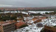 مناظر رائعة للتساقطات الثلجية بمدينة تنغير .