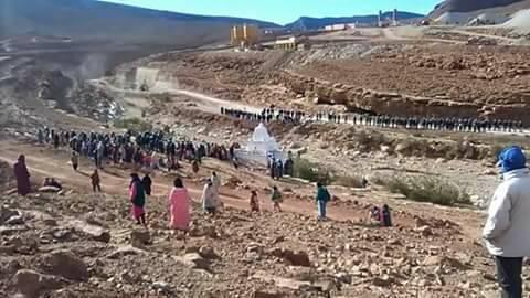 """تنغير : القوات العمومية تفض اعتصاما بسد """"تودغى"""" بتامتتوشت وتعتقل 11 شخصا + فيديو"""