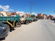 """هذه حيثيات اعتصام ارباب شاحنات نقل مواد البناء بتنغير """"بيان"""""""