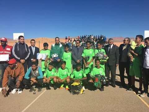تنغير: رجاء تنغير يتوج بطلا في البطولة الاقليمية لكرة القدم المصغرة لليافعين في نسختها الأولى