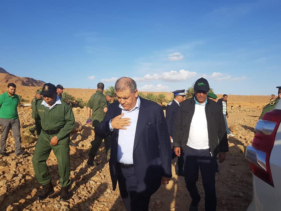 فاجعة الرشيدية.. وزير الداخلية ووزير النقل يحلان بمكان الحادث رفقة قائد الدرك الملكي