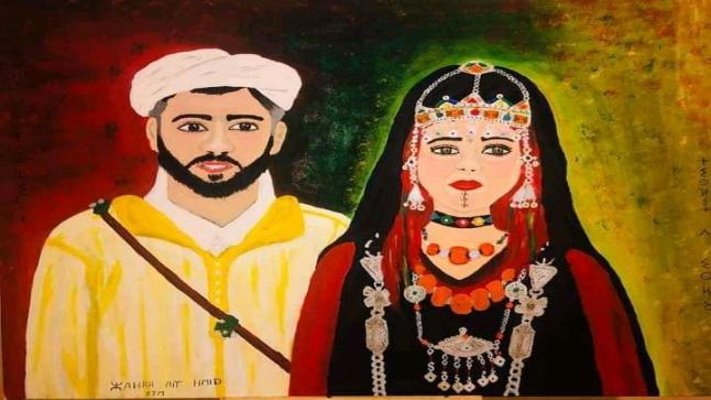 """فنانة أمازيغية """"نقوبية"""" تواصل الإبداع في فرنسا"""