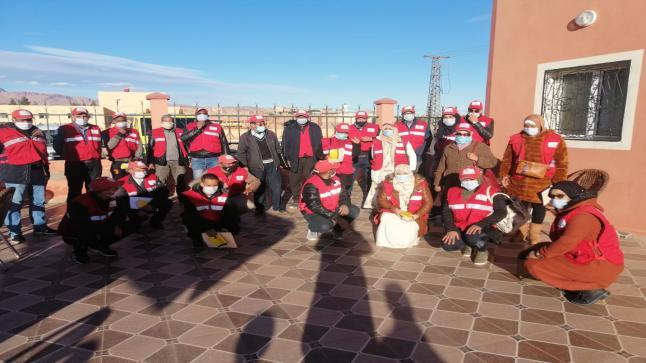 تنغير.. الهلال الأحمر المغربي يستعد لحملة تحسيسية حول كوفيد 19 + صور